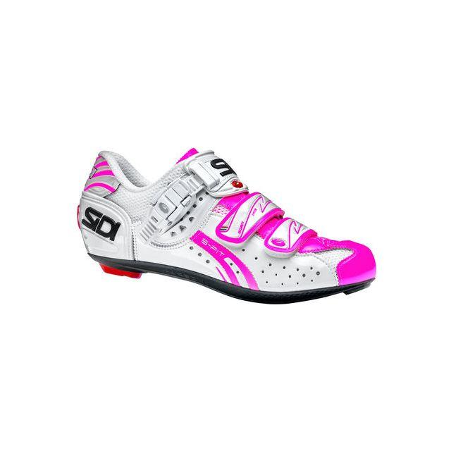 5f1a7bb1cbf Sidi - Genius 5 Fit Carbon Woman Blanche Et Rose Chaussures Vélo femme - pas  cher Achat   Vente Chaussures cyclisme - RueDuCommerce