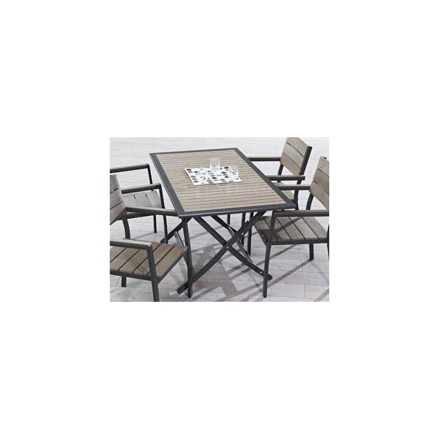 Dcb Groupe - VigiPiscine - Table pliante de jardin aluminium ...