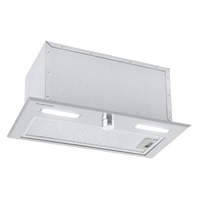 KLARSTEIN Simplica Hotte aspirante encastrable 52 cm - Extraction 400 m³ / h - Eclairage LED - Inox argent
