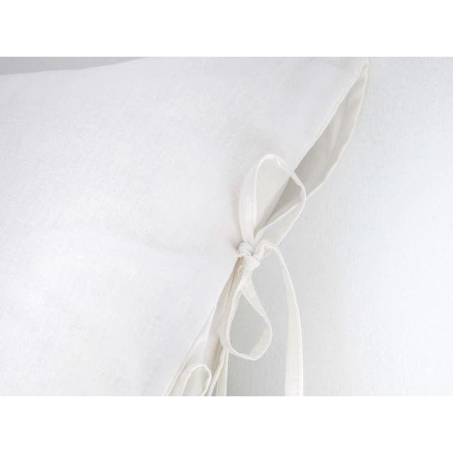 Today - Parure housse de couette 240x220cm + taies coton uni finition nœuds NÖD - Blanc - 240x220cmNC 220cm x 220cm