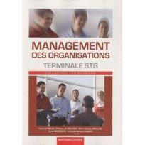 Bertrand Lacoste - management des organisations ; terminale Stg ; manuel de l'élève
