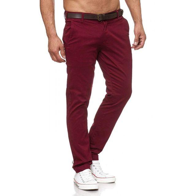 Achat Achat Pantalon Homme Pantalon Rouge OywvN8nm0P