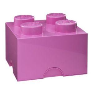Lego brique de rangement 4 tenons rose pas cher - Boite de rangement lego pas cher ...