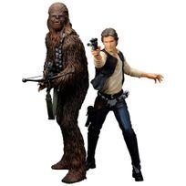 Stars Wars - Star Wars pack 2 statuettes Pvc Artfx+ Han Solo & Chewbacca 18 cm