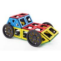Polydron - set de 4 roues magnétiques + 4 carrés pour tenir les roues