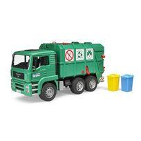 Bruder - Camion poubelle avec 2 poubelles