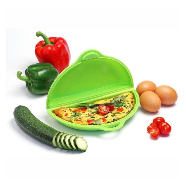 YOKO DESIGN Cuit omelette en silicone pour four micro-ondes - Vert