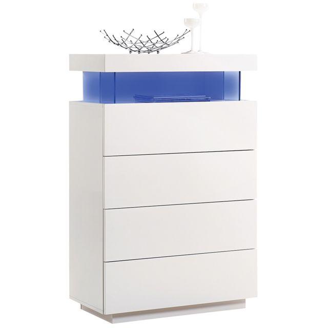 comforium commode 120 cm en mdf coloris blanc 79cm x 79cm x 120cm pas cher achat vente. Black Bedroom Furniture Sets. Home Design Ideas