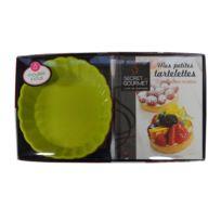 Secret de Gourmet - Coffret 4 Moules et livre de recettes - Tartelettes