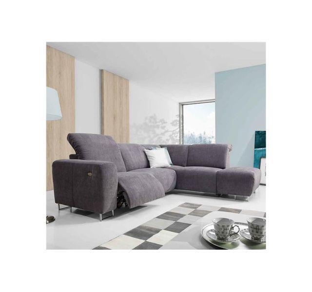 Chloe Design Canapé d'angle design Adem - Ivoire - Angle droit