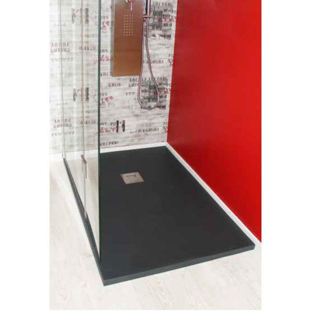 evidence receveur de douche en r sine 80x120 anthracite. Black Bedroom Furniture Sets. Home Design Ideas