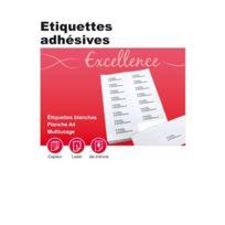 Majuscule - etiquette adresse coin carre 10,5x14,8 - boite de 400