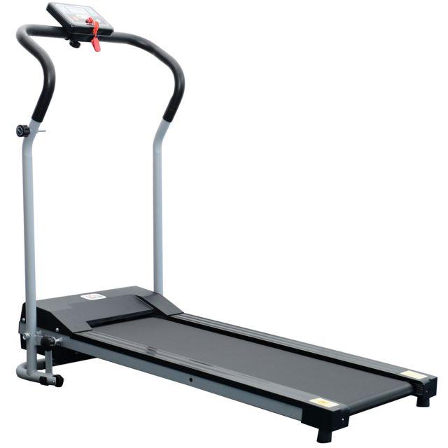 homcom tapis roulant de course electrique fitness argent noir pas cher achat vente tapis. Black Bedroom Furniture Sets. Home Design Ideas