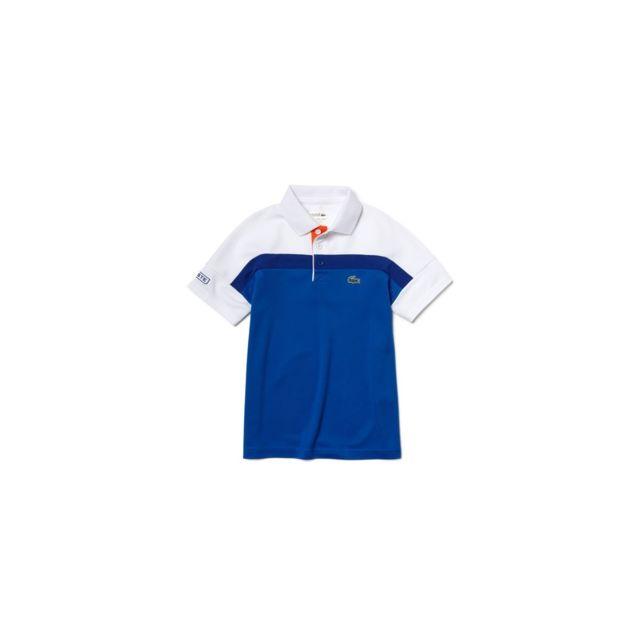 ca6ebf342dd9 Lacoste - Polo Junior - Ref. Dj5842-002YY Bleu - 16 ans - pas cher Achat /  Vente Polo enfant - RueDuCommerce