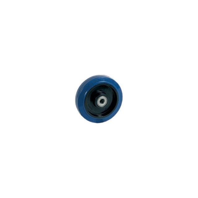 roues et roulettes com roue caoutchouc bleu 125 x 35 lm40 al12 pas cher achat vente levage. Black Bedroom Furniture Sets. Home Design Ideas