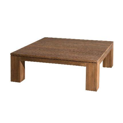 Table basse 100x100 cm Appoline - teck foncé