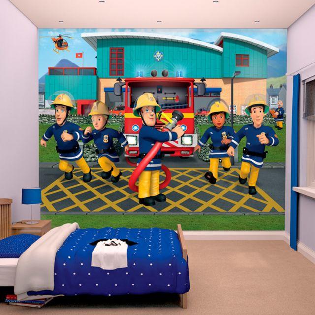 walltastic papier peint enfant sam le pompier 305x244 cm. Black Bedroom Furniture Sets. Home Design Ideas