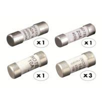 Zenitech - 6 fusibles céramique 1x10A 3x16A 1x20A 1x32A sans voyant