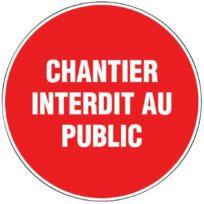 """Outibat - Panneau """"Chantier interdit au public"""