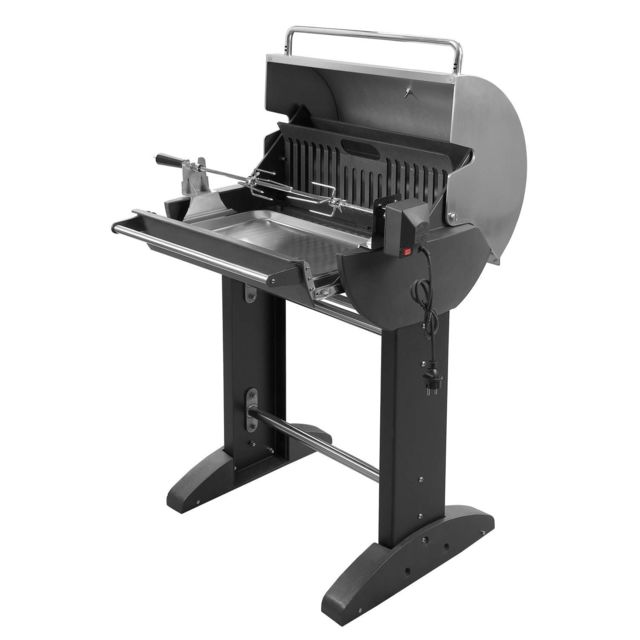 barbecook barbecue charbon 50cm avec r tissoire verticale banika fonte maill e pas cher. Black Bedroom Furniture Sets. Home Design Ideas