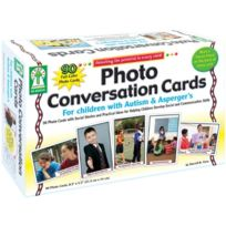 Carson Dellosa - Photo Conversation Cards For Children With Autism And Aspergers Board Game