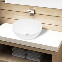Vidaxl - Bassin d'évier rond céramique Blanc pour salle de bain