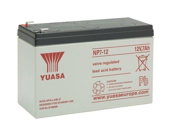yuasa batterie np7 12 pas cher achat vente batteries rueducommerce. Black Bedroom Furniture Sets. Home Design Ideas