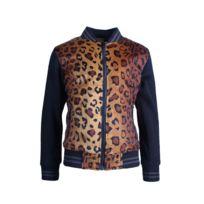Gov Denim - Veste Teddy Enfant noir motif léopard 89072_BK-LB 14 ans