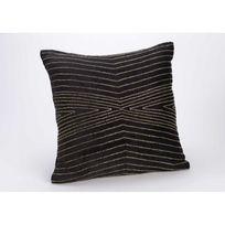 Amadeus - Coussin déhoussable noir et fil d or Palace 40X40 cm