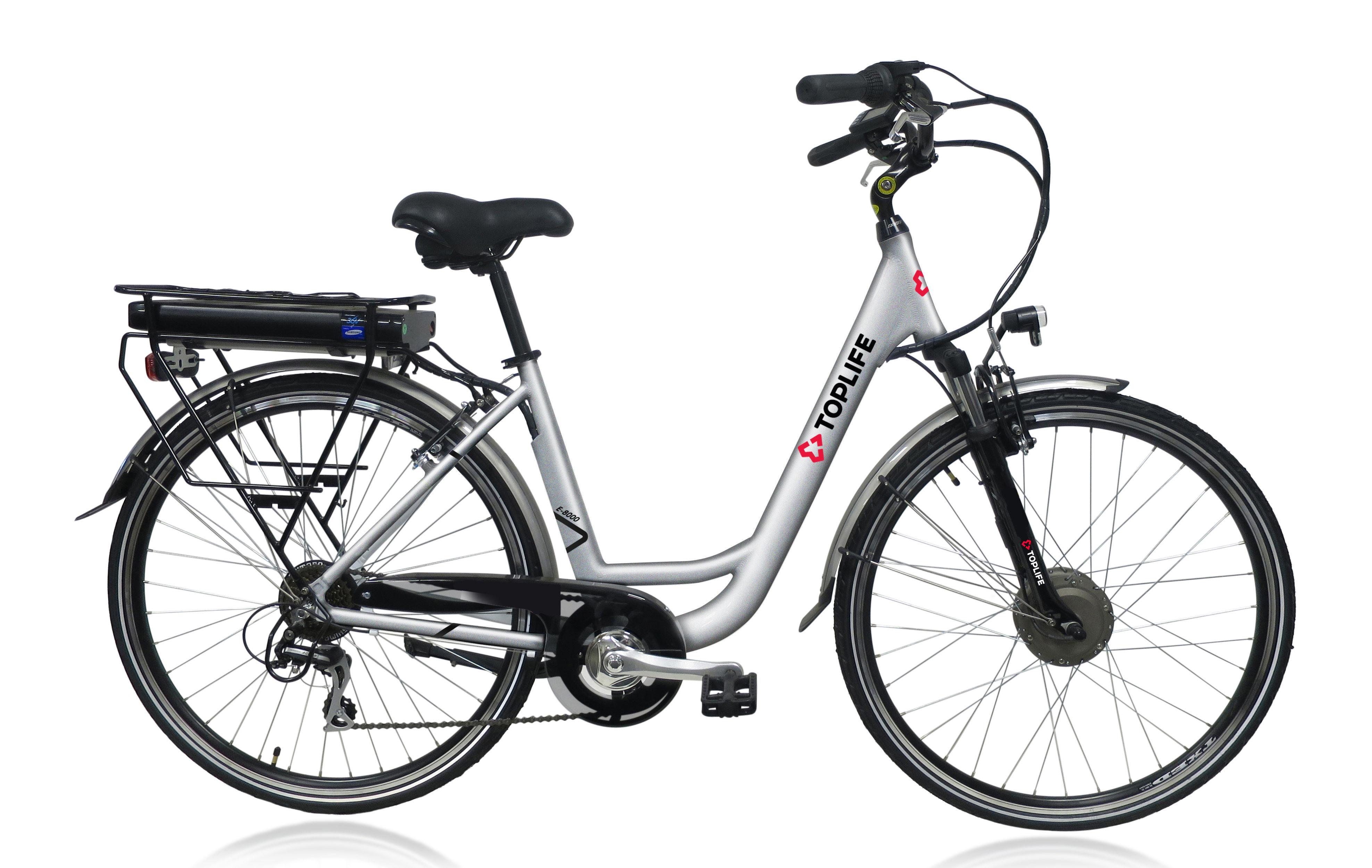 Vélo à assistance électrique de ville E-8000 - Autonomie de 90 km