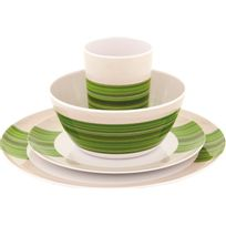 Outwell - Blossom - Vaisselle - 4 Persons vert/blanc