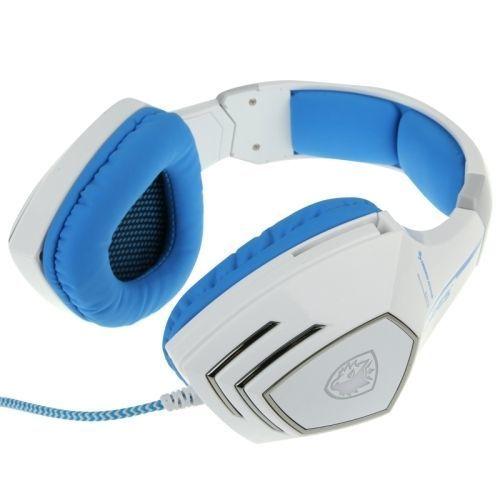 Yonis - Casque audio Pc microphone télécommandé jeux en ligne Usb blanc