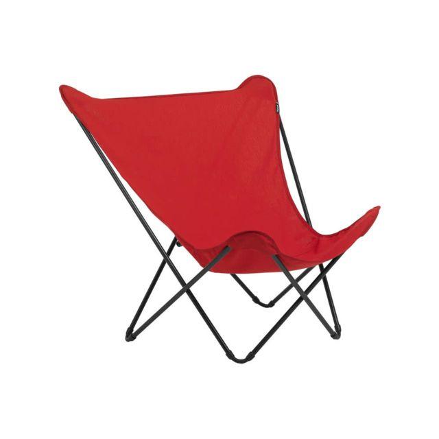 lafuma fauteuil dossier haut pliant en acier et toile. Black Bedroom Furniture Sets. Home Design Ideas