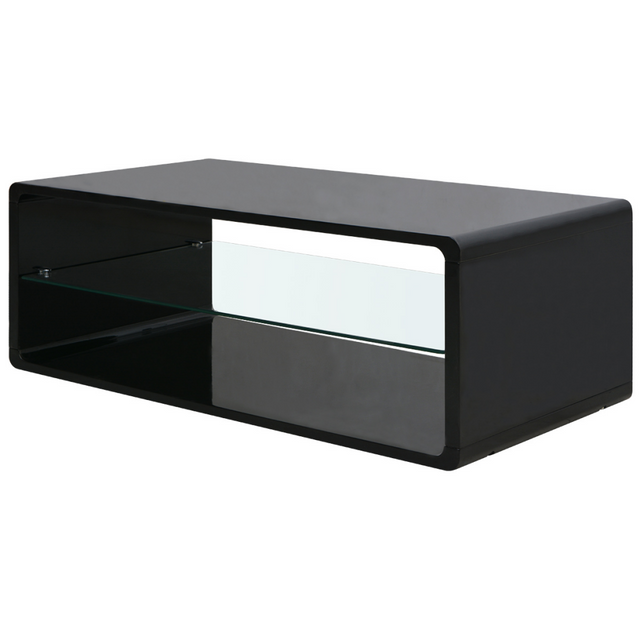 Vidaxl Table basse brillante Noir