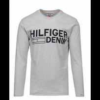 Tommy Hilfiger - Hilfiger Denim T-shirt Gris ImprimÉ Manche Longues Taille M