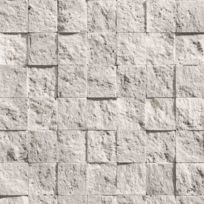 Open En Ville - Papier peint Damier de pierre blanche Rouleau : 10 m