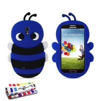 """Muzzano - Coque Souple """"Abeille"""" Premium Bleu nuit pour Samsung Galaxy S4 Advance"""