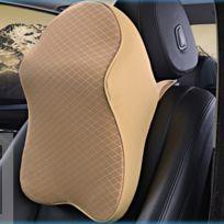 Wewoo - Oreiller d'oreiller de voiture de beige mousse de mémoire de rebond de double-but respirable de taille arrière
