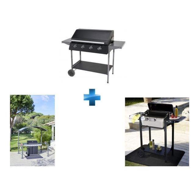 Carrefour Miami Barbecue Gaz 4 Brûleurs Tapis De