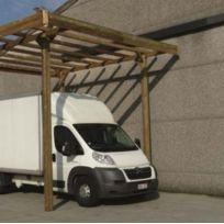 Solid - Carport Base 3x5 hauteur 4m, Ancrage Aucun, Panneaux de toit Pvc