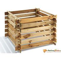 JARDIPOLYS - Bac à compost en bois 700L