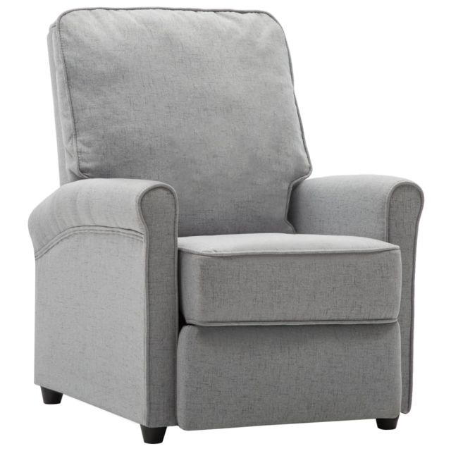 Icaverne Fauteuils club, fauteuils inclinables & chauffeuses lits gamme Fauteuil inclinable Tv Gris clair Tissu