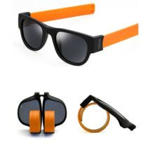 Wewoo - Lunettes de soleil Orange pour Hommes   Femmes Mode Crimp Pliage  Miroir Pops Polarized 314300bcc1e4