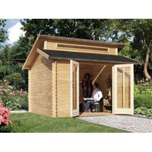 karibu pool zen spa abri de jardin varmland 1 coloris bois naturel dimensions 327 x 327 x. Black Bedroom Furniture Sets. Home Design Ideas