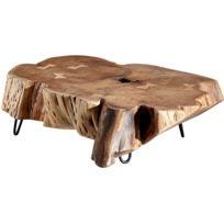 Et H30 Acier Collection Muhammad P69 Table L104 C Bois Acacia X Cm Rustique Piètement Basse Massif D'arbre En Marron Tronc vwO0nN8m