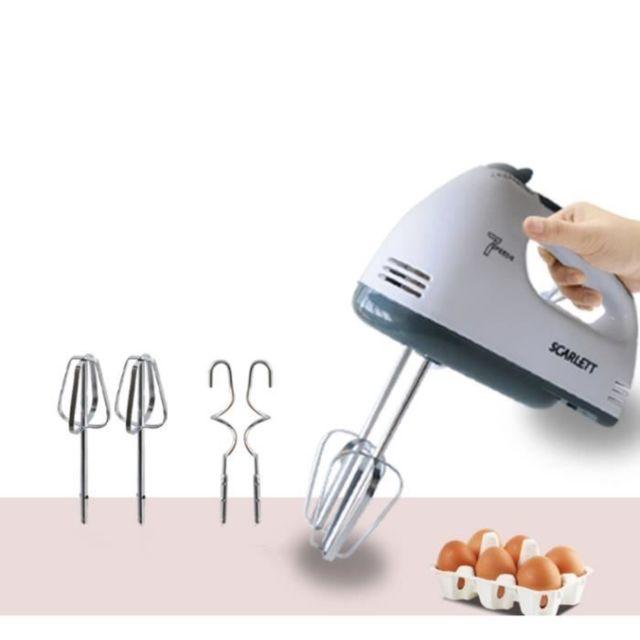 7 Vitesses Batteur à oeufs électrique à main,Mélangeur automatique de pâte de mélangeur à la maison,set de 5 pièces
