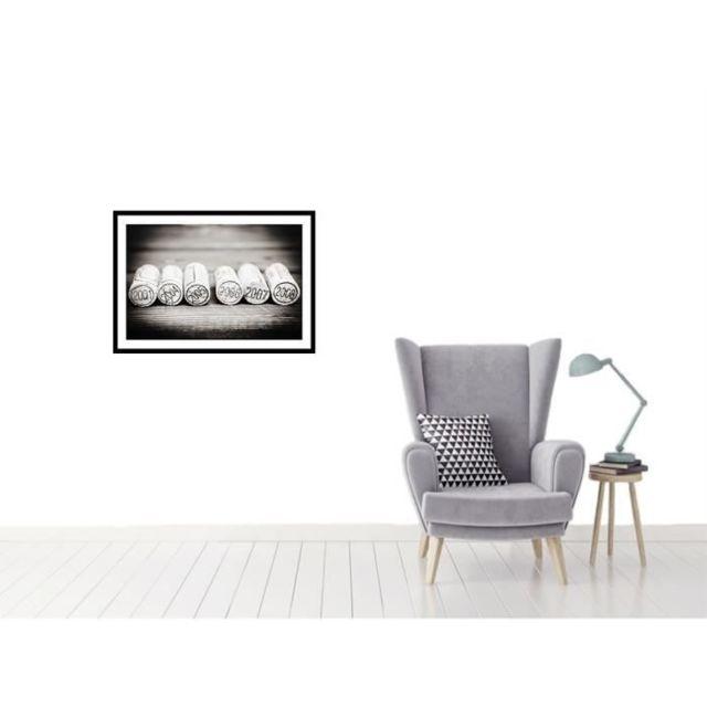 CADRE PHOTO BOUCHONS Affiche encadrée 60x40cm - Bouchons noir & blanc