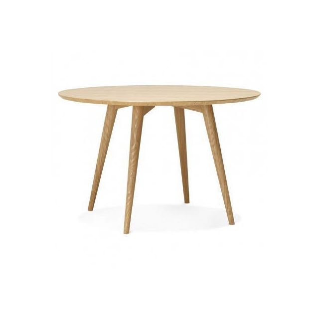 TECHNEB Table à manger style scandinave ronde PONY en bois Ø 120 cm, naturel
