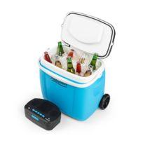 AUNA - Picknicker Glacière 36 litres & sono portable Bluetooth USB batterie - bleu