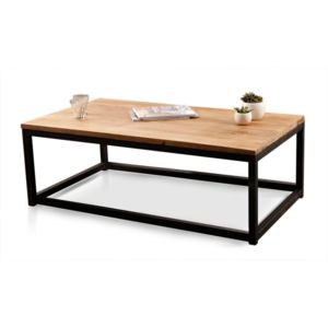 Miliboo table basse industrielle bois m tal factory - Table basse industrielle bois metal factory ...
